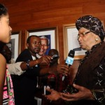 zuriel interviewing Ellen Johnson Sirleaf, president of Liberia